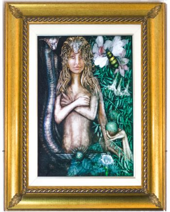 Framed Lilith painting